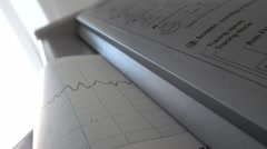 Cardiograph printing graphs of heart rate with original sound Stock Footage