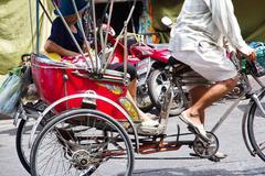 Rickshaw on street Stock Photos