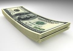 Stock Illustration of Money stack. Dollars