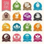 Spa icon set - stock illustration