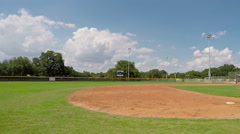 Baseball Field Time Lapse Pan Right Stock Footage