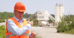 Engineer Media Information Technical Answers Construction Materials Industry Stock Footage