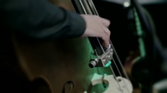 Man playing on contrabass Stock Footage