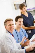 Stock Photo of Doctors: Cheerful Team Of Doctors
