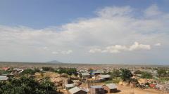 Aerial of Rural Juba, South Sudan Stock Footage