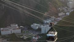 Sugar loaf cable car in Rio de janeiro Stock Footage