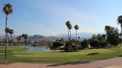 Golf Course at Country Club (Palm Springs, CA) - stock footage