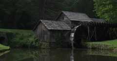Scenic Mabry Mill Stock Footage