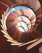 Spiral Books - stock illustration