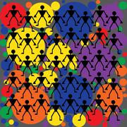 abstract geometric colorful vector pattern. - stock illustration