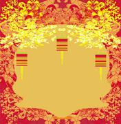 lanterns will bring good luck and peace to prayer during Mid-Autumn Festival  - stock illustration