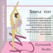 Beautiful gymnast Stock Illustration