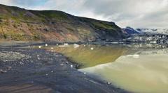 Fjallsarlon glacier lagoon Stock Footage