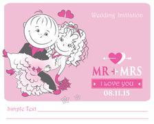 Loving couple , vector illustration. Stock Illustration