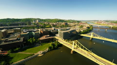 Allegheny River in Pittsburgh Stock Footage