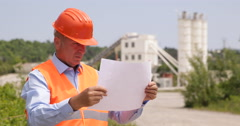 Worker Study Draft Factory Building Modify Rig Production Mixing Cement Process Stock Footage