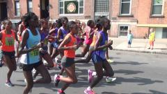 RUNNERS LEAD PACK ELITE WOMEN - Salmini Stock Footage