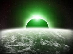 Eclipse on the planet Earth Stock Illustration