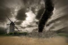 Large Tornado disaster Kuvituskuvat