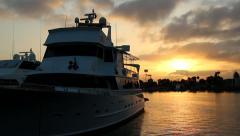 Yacht & Sunrise at Marina del Rey, CA #1 Stock Footage