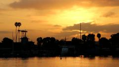 Sunrise in Marina del Rey, CA Stock Footage