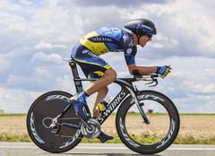 The Cyclist Chris Sorensen - Tour de France 2012 - stock photo