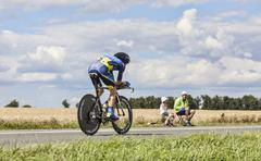 The Cyclist Chris Sorensen - Tour de France 2012 Stock Photos