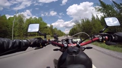 Motorcycles riding close together Stock Footage