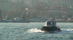 Boat float on the Bosphorus. Istanbul Stock Footage