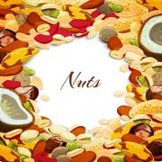 Stock Illustration of Nuts Mix Background