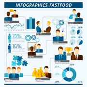 Stock Illustration of Partnership Infographics Set