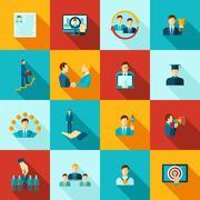 Career Flat Icons Set Stock Illustration