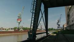 Regensburg Harbor 3 Stock Footage