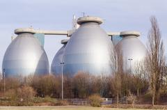Septic tanks, digesters - stock photo