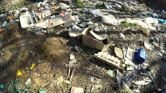 illegal garbage dump environmental issue - stock footage