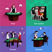 People In Casino Set Piirros