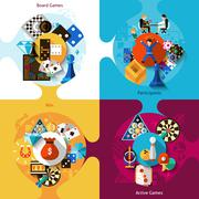 Stock Illustration of Games Design Set
