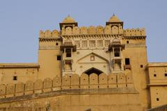 Entrance To Amber Fort - stock photo