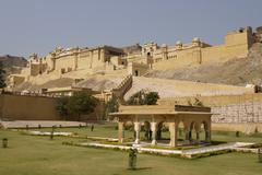 Stock Photo of Formal Garden At Amber Fort