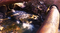 Polluted river. environmental issue - stock footage