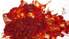 Jar Of Pasta Sauce Smashes On White Surface - stock footage