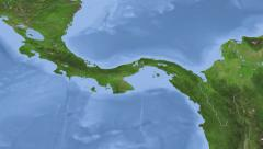 Panama on maps - Do It Yourself as you like. Neighbourhood - stock footage