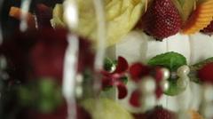 Decorative Food on Dinner Table Stock Footage