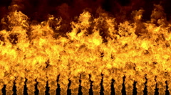 Dynamic background of turbulent burning flames Stock Footage