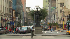 Stock Video Footage of Downtown Historic Lima, Peru