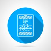 Line vector icon for calorie counter Piirros