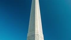 San Jacinto Memorial And Museum Close-up Tilt Stock Footage
