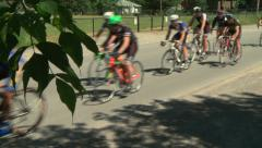 Community cycle race, wide shot 1 Stock Footage