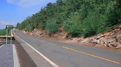 roads in America in the green zone , the road that video to New York - stock footage
