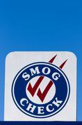 Smog Check Sign Kuvituskuvat
